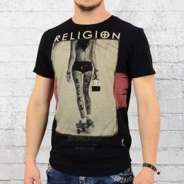 Religion Männer T-Shirt Rock and Roller schwarz L