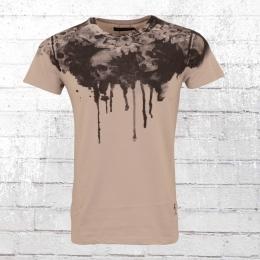 Religion Männer T-Shirt Sun Flower altrosa grau