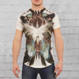 Religion T-Shirt Herren Birds Wings weiss