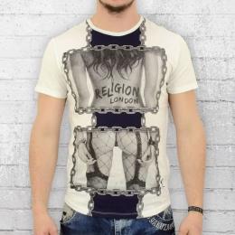 Religion Clothing T-Shirt Herren Chain weiss