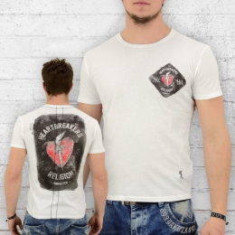 Religion T-Shirt Herren Heartbreakers weiss L