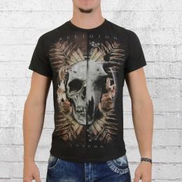 Religion T-Shirt Herren Skull Hybrid SHF07 schwarz