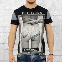 Religion T-Shirt Herren Stay Chill schwarz grau M