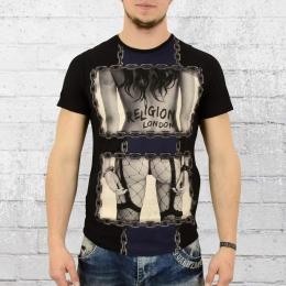 Religion T-Shirt Männer Chain schwarz