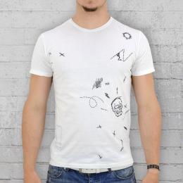 Religion T-Shirt Männer Doodle Tee weiss M