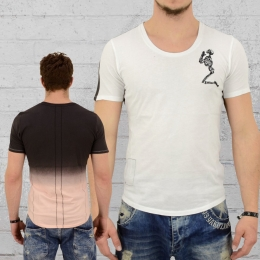 Religion T-Shirt Männer Gradient weiss schwarz hautfarben