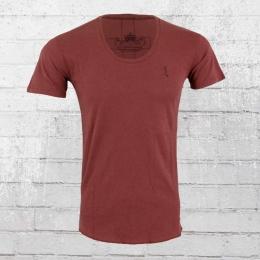 Religion T-Shirt Männer Plain Crew Neck PLF 12 X cardinal rot