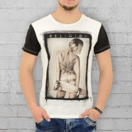 Religion T-Shirt Männer Smokin weiss schwarz