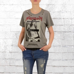 Religion Vintage Damen Shirt Off Limit grau