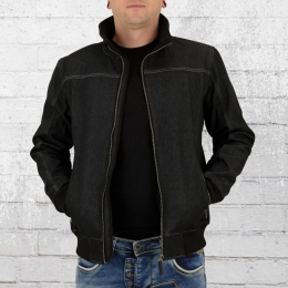 Result Funktionsjacke Stonewash Denim Softshell schwarz