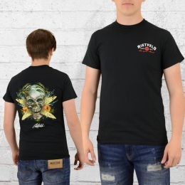 Rietveld T-Shirt Surf Skull schwarz