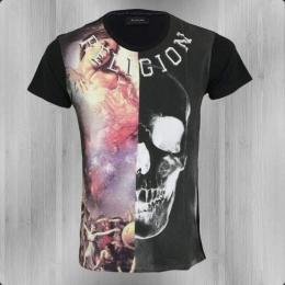 Religion T-Shirt Herren Roman Skull RKF 35B white washed black
