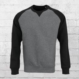 Russell Raglan Sweatshirt Herren grau schwarz