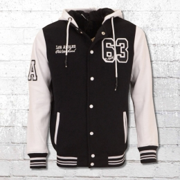 Rusty Neal Male College Sweat Jacket black white