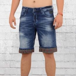 Rusty Neal Männer Jeans Short Hitton dunkel blau