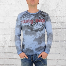 Rusty Neal Männer Longsleeve T-Shirt Force One blau