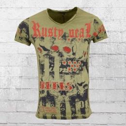 Rusty Neal Riders T-Shirt Herren oliv