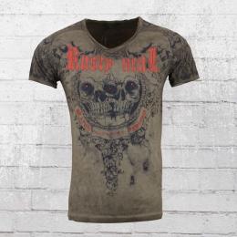 Rusty Neal T-Shirt Graphic Propaganda vintage grau