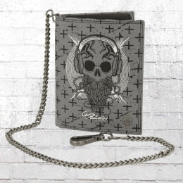 Scorpion Bay Portemonnaie Mit Kette Leather Urban Wallet grau