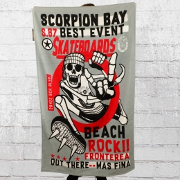 Scorpion Bay Strand Handtuch Beach Rock grau