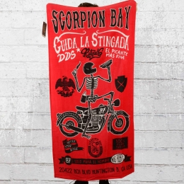 Scorpion Bay Strandtuch Skeleton Bike rot