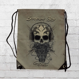 Scorpion Bay Turnbeutel Skull Beard vintage grau