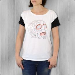 VANS Frauen T-Shirt Skull Me Free white