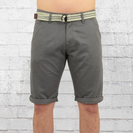 Smith and Jones Herren Chino Shorts Cleithral grau
