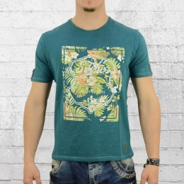 Smith and Jones Herren T-Shirt Lockerly petrolgrün L