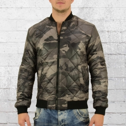 Smith and Jones Herren Stepp Bomber Jacke Romanesque oliv camo