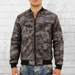 Smith and Jones Männer Stepp Bomber Jacke Romanesque schwarz camo