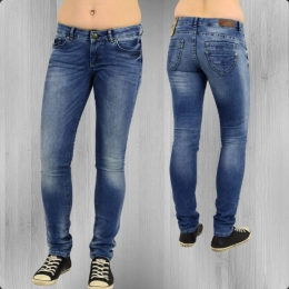 Fuga Damen Skinny Jeans Hose Super Five Slim 14129 Röhrenjeans