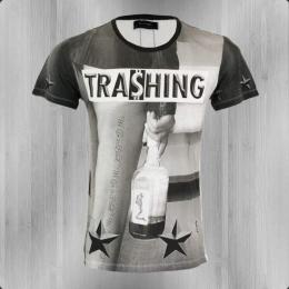 Religion T-Shirt Männer Trashing TNF 11 white