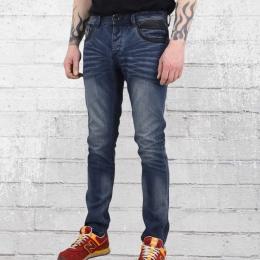 Trueprodigy Herren Jeans Hose Espen Slim Fit blau gewaschen