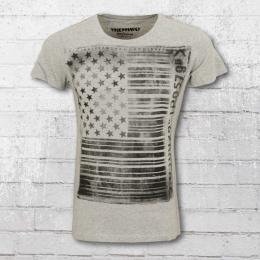 Trueprodigy Herren T-Shirt Barcode grau meliert