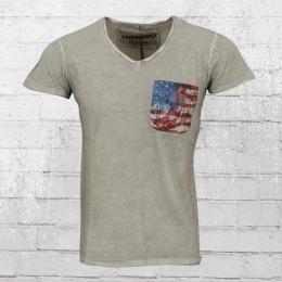 Trueprodigy Herren T-Shirt Pocket T US grau