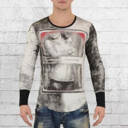 Trueprodigy Longsleeve Herren Langarm T-Shirt All Over weiss