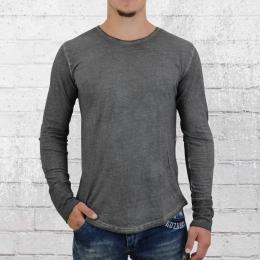 Trueprodigy Longsleeve Herren Langarm T-Shirt Crew anthrazit