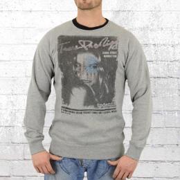 Trueprodigy Männer Sweatshirt Manhatten grau melange