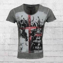 Trueprodigy Männer T-Shirt And Rock n Roll anthrazit