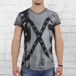Trueprodigy Männer T-Shirt Big Flag anthrazit