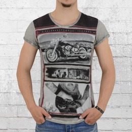 Trueprodigy Männer T-Shirt Lifestyle grau