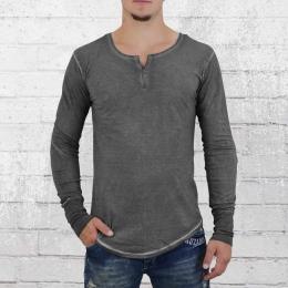 Trueprodigy Männer V-Neck Longsleeve T-Shirt anthrazit