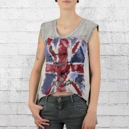 Trueprodigy T-Shirt Frauen Party Killed Nobody Tanktop grau
