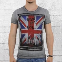 Trueprodigy T-Shirt Herren Rock and Roll grau