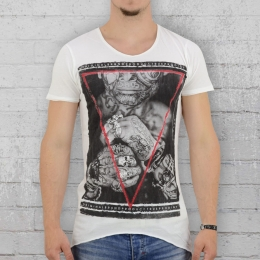 Trueprodigy T-Shirt Herren Tattooed Boy weiss