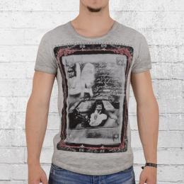 Trueprodigy T-Shirt Männer Card grau melange