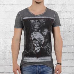 Trueprodigy T-Shirt Männer Tattooed Boy anthrazit