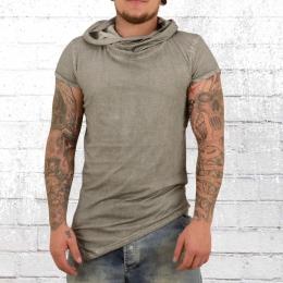 Trueprodigy Vintage T-Shirt mit Kapuze vintage grau