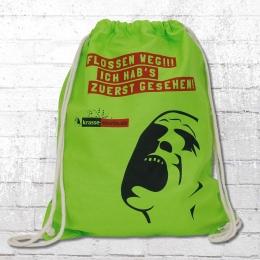 Turnbeutel Zuerst gesehen Gym Bag leuchtend grün